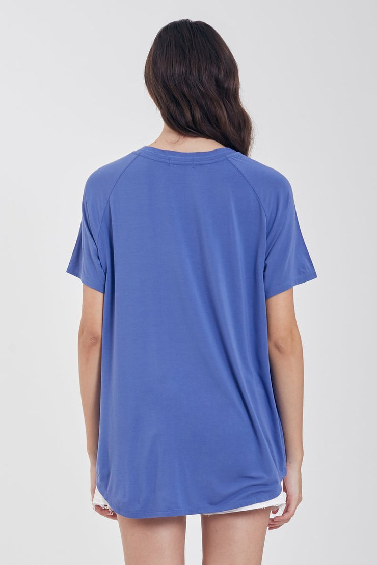 The Taylor Slouchy Tee (Blue Pearl) (3673196625968)
