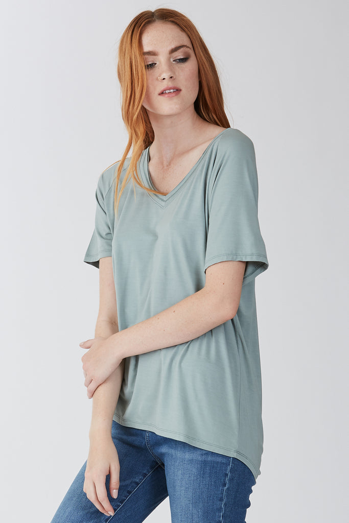 The Taylor Slouchy Tee (Fern)