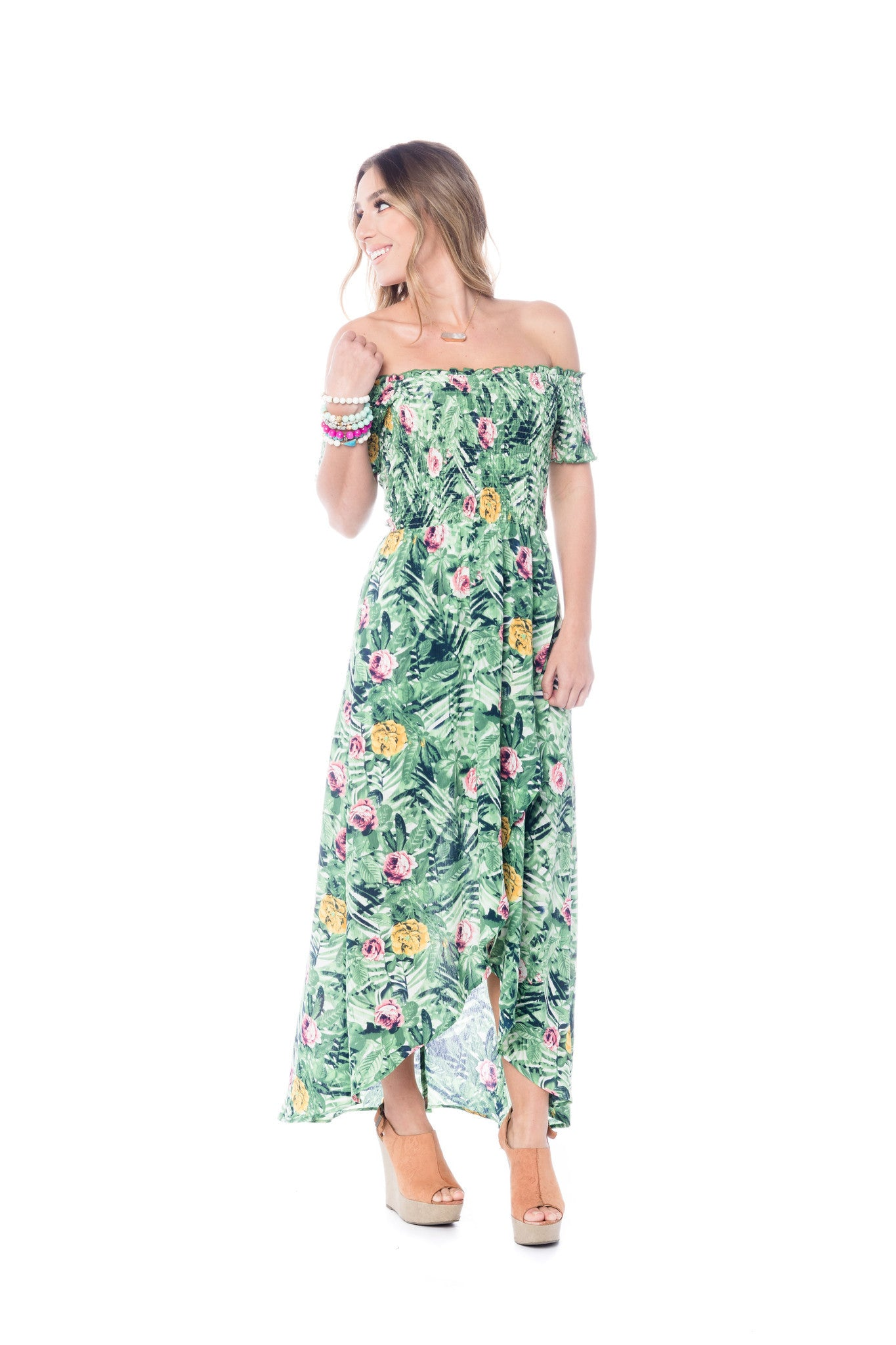 Carmel Night Palm Maxi Dress