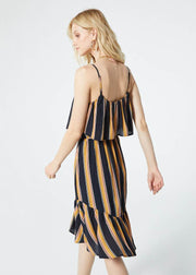 Bridget Ruffle Stripe Dress Dress Band of Gypsies - Bows and Arrows FSU Seminoles and UF Gators Women's Game Day Dresses and Apparel (1394875433008)