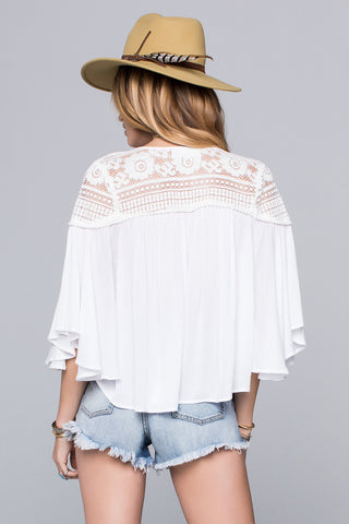 Isabella lace Detail Blouse