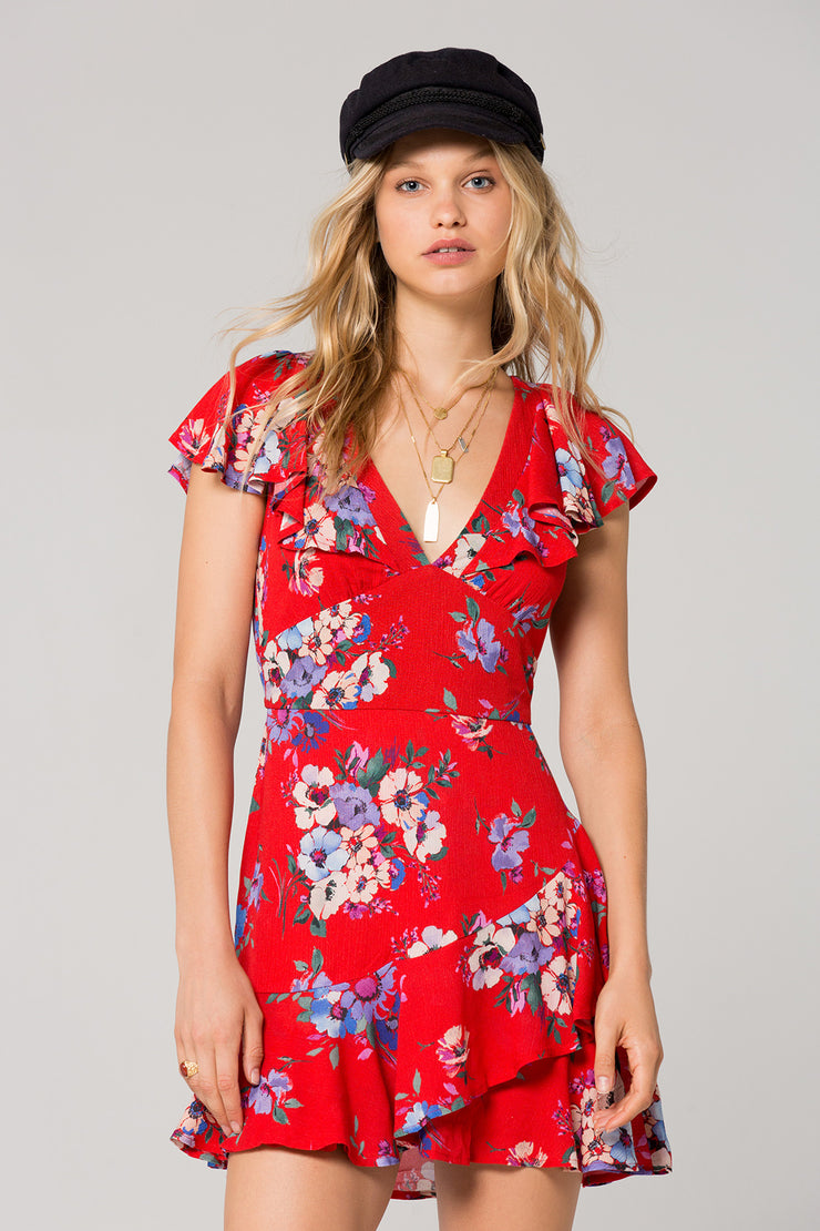 Maldives Ruffle Floral Dress (2199332847664)