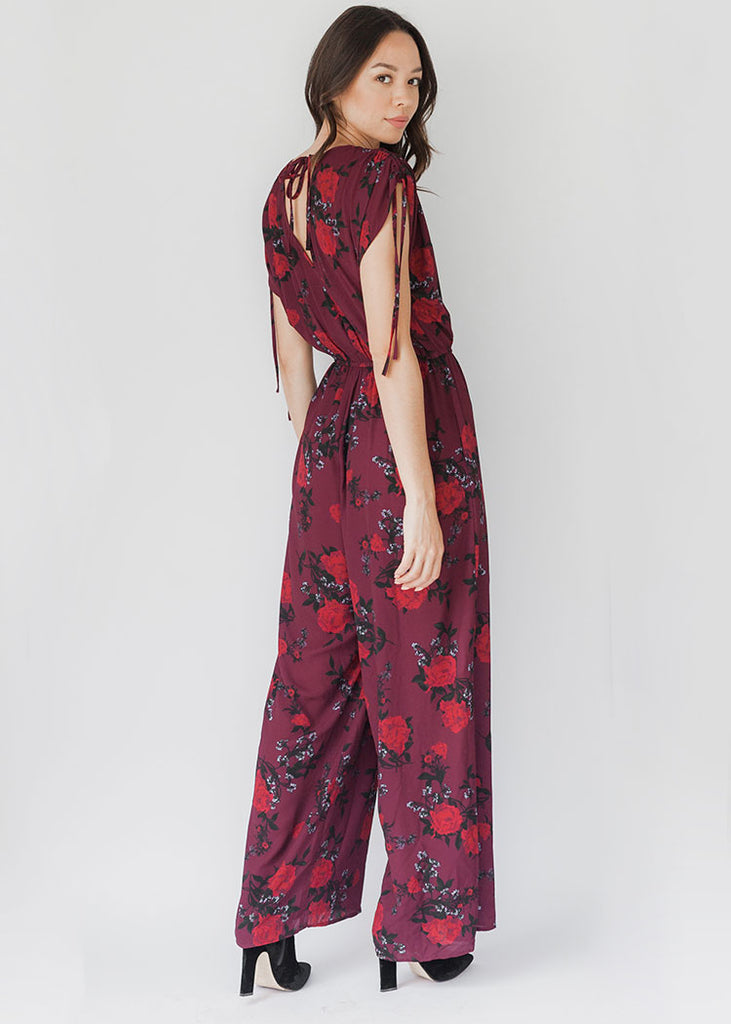 The Morgan Wide-Leg Floral Jumpsuit