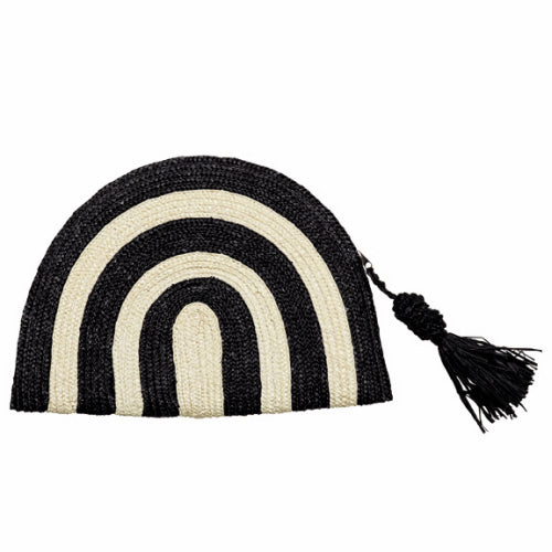 Black Stripe Wheatstraw Clutch with Tassel Clutch San Diego Hat Company - Bows and Arrows FSU Seminoles and UF Gators Women's Game Day Dresses and Apparel