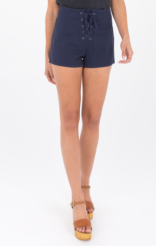 Nikkita Sky Captain Lace Up Shorts