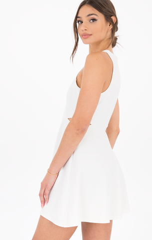 Alette White Cut-Out Dress