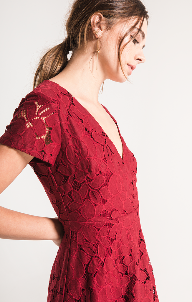 Tia Berry Pomegranate Lace Dress
