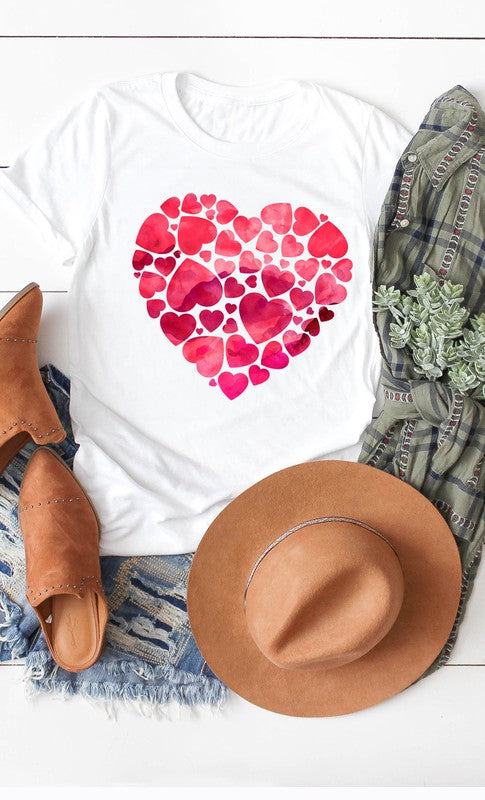 The Watercolor Hearts Graphic Tee (4430525988912)