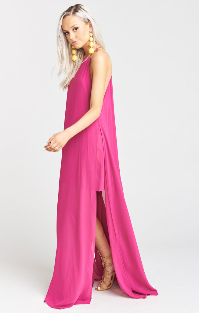 Bronte Fuschia Pop Chiffon Maxi Dress Maxi Dress Show Me Your Mumu - Bows and Arrows FSU Seminoles and UF Gators Women's Game Day Dresses and Apparel