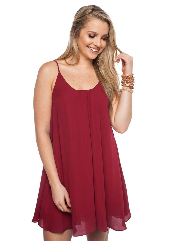 Game Day Bonita Dress - Maroon