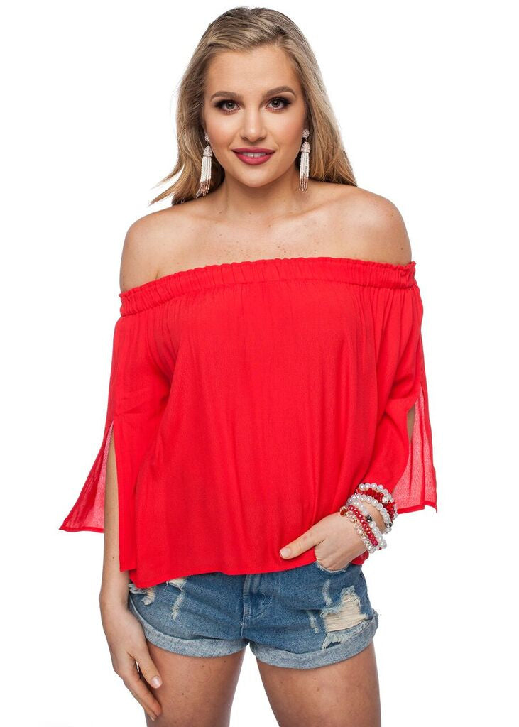 Game Day Jessy Top - Red