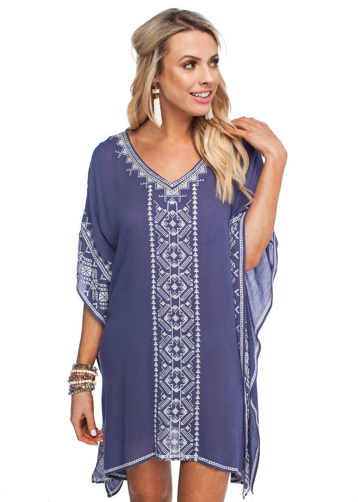 Buddy Love Kahuna Dove Tunic Tunic Buddy Love - Bows and Arrows FSU Seminoles and UF Gators Women's Game Day Dresses and Apparel
