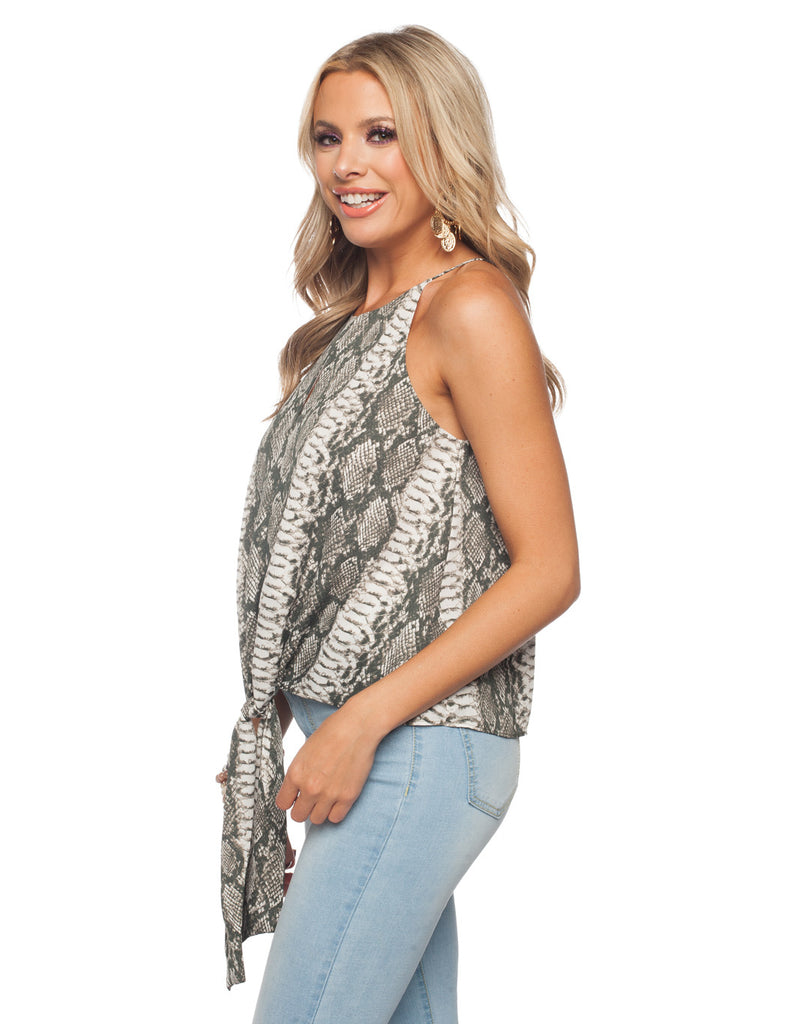 The Candice Serpent High Neck Tank