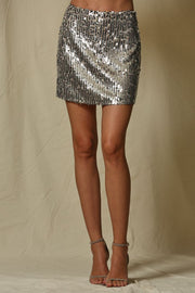 The Vegas Metallic Sequin Skirt