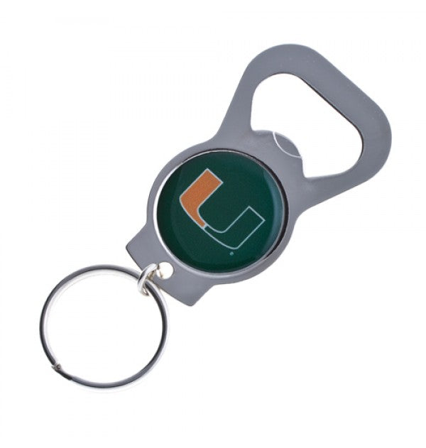Miami Hurricanes Bottle Opener Keychain