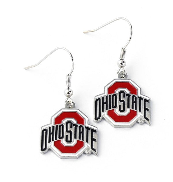 Ohio State Buckeyes Dangle Earrings (587104124961)