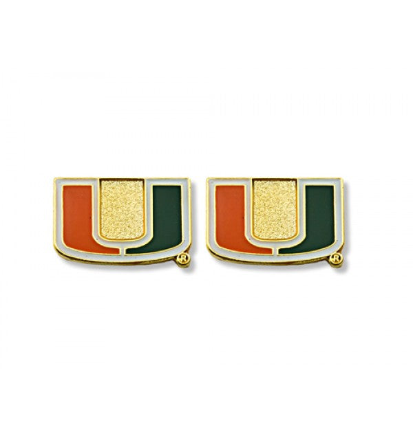 Miami Hurricanes Post Earrings