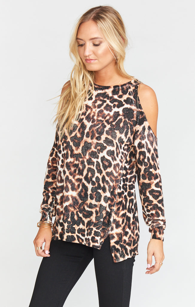 Coyote Kitty Shiver Shoulder Sweater Sweater Show Me Your Mumu - Bows and Arrows FSU Seminoles and UF Gators Women's Game Day Dresses and Apparel