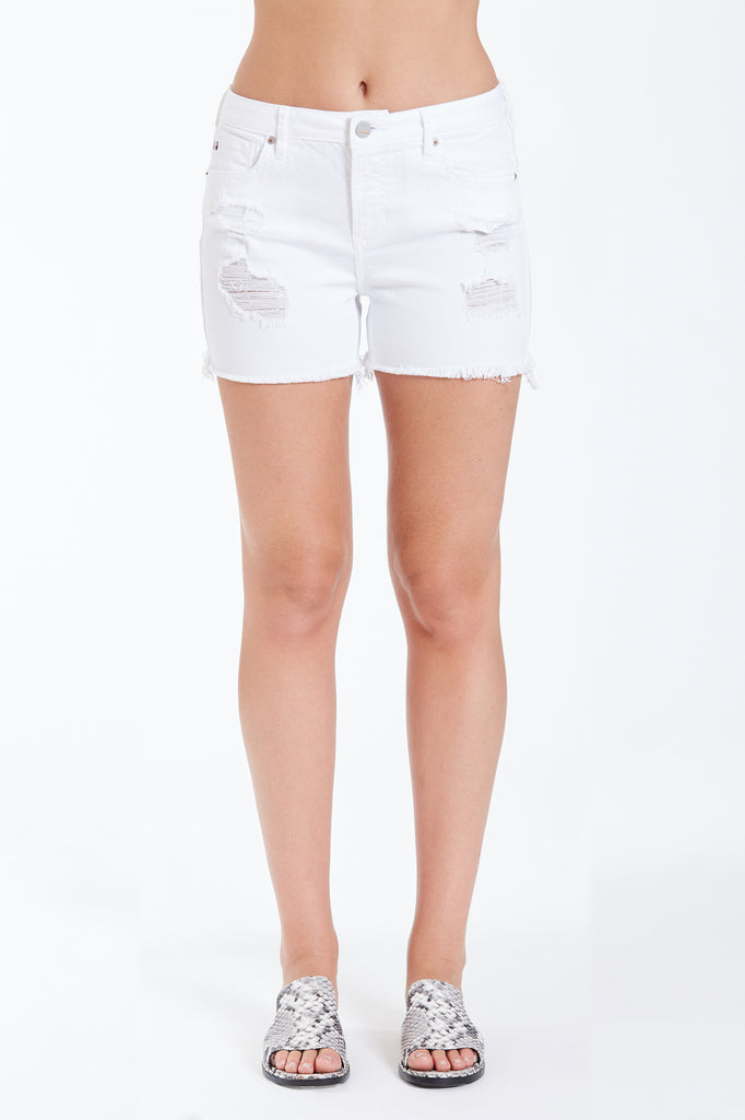 Gigi High Rise Short (Optic White)