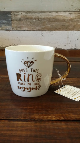 Does this Ring Make Me Look Engaged? - Coffee Mug Coffee Mug Slant - Bows and Arrows FSU Seminoles and UF Gators Women's Game Day Dresses and Apparel