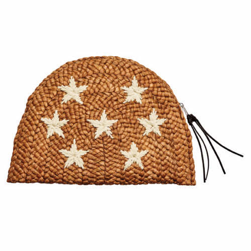 Embroidered Stars Cornhusk Clutch