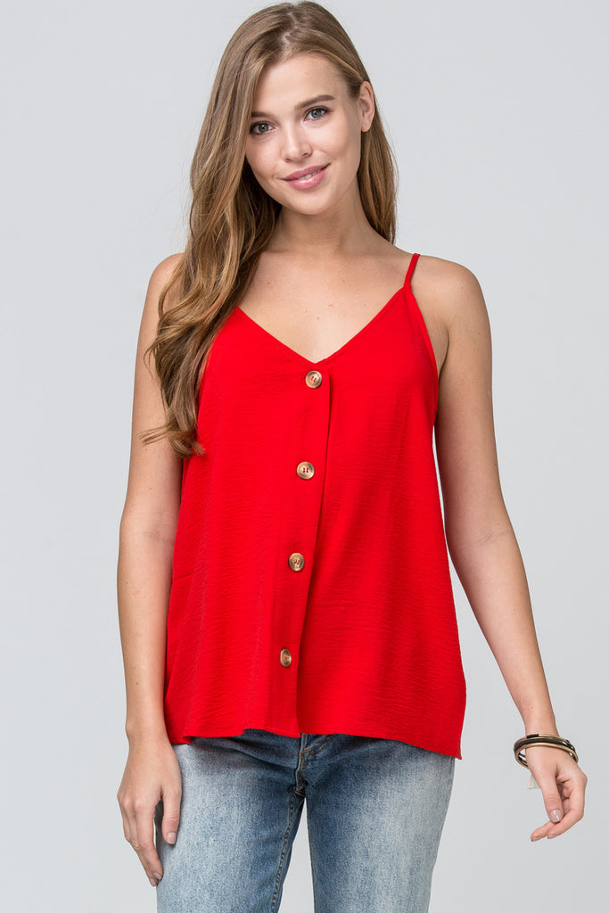 The Classic Red Button Tank