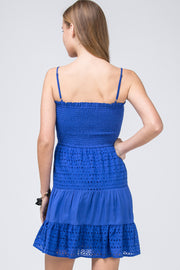 The Gainesville Eyelet Lace Game Day Dress (3857013178416)