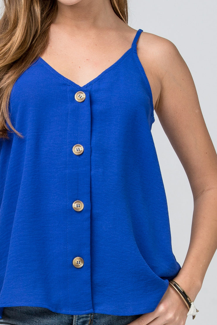 The Royal Blue Button Tank (3851521687600)