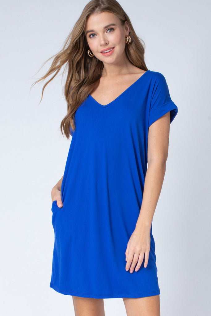 The Royal Blue Game Day Tee Dress
