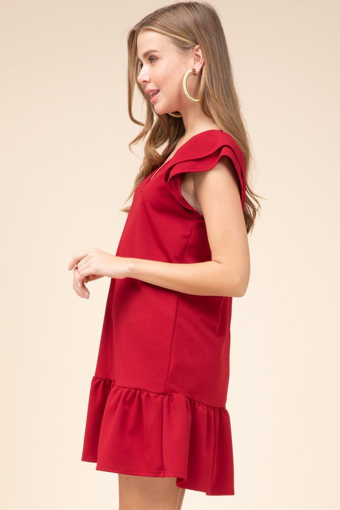 The Ruby Red Drop Waist Game Day Dress