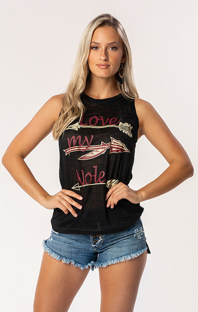The Kelsey Love My 'Noles Burn Out Tank