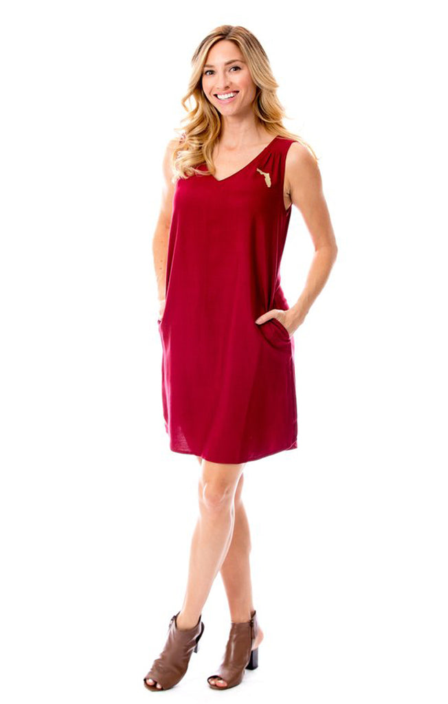 Florida Shift Dress - Garnet