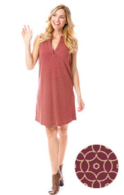 Garnet & Gold Shift Dress (1372686549040)
