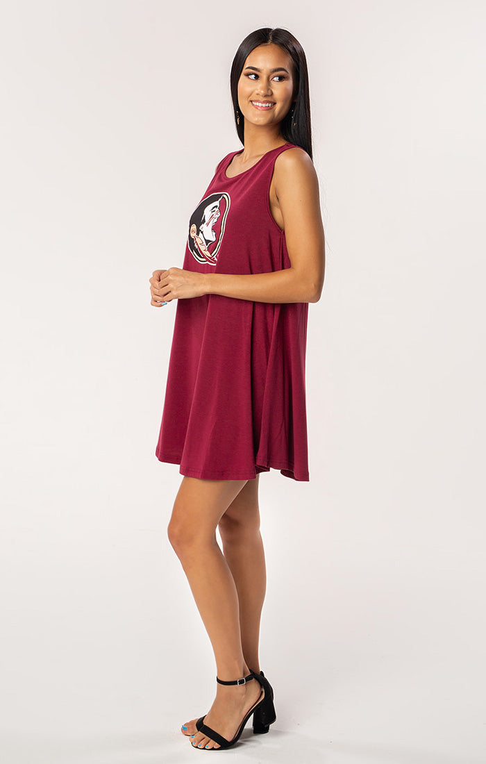 The Florida State Flowy Piko Tank Dress (351764119585)