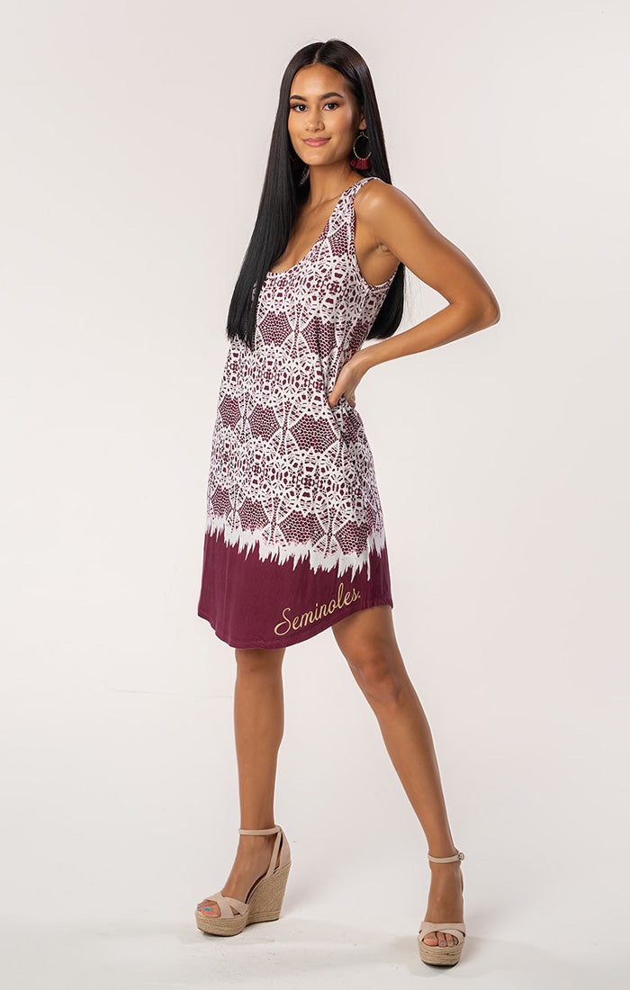 The Zoe Seminoles Printed Game Day Dress (583468711969)