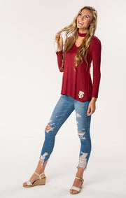 FSU Seminoles The Chelsea Choker Long Sleeve Tee (1482225877040)