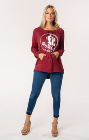 FSU Seminoles The Katie Cut-Out Back Pullover (1482224828464)