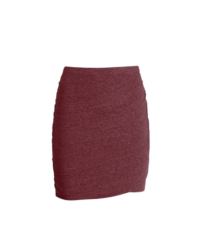 The Georgia Ruched Skirt - Maroon
