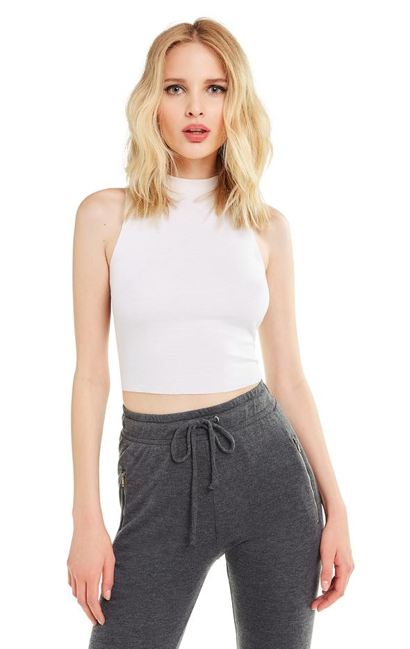 Fountain Crop Top - Clean White