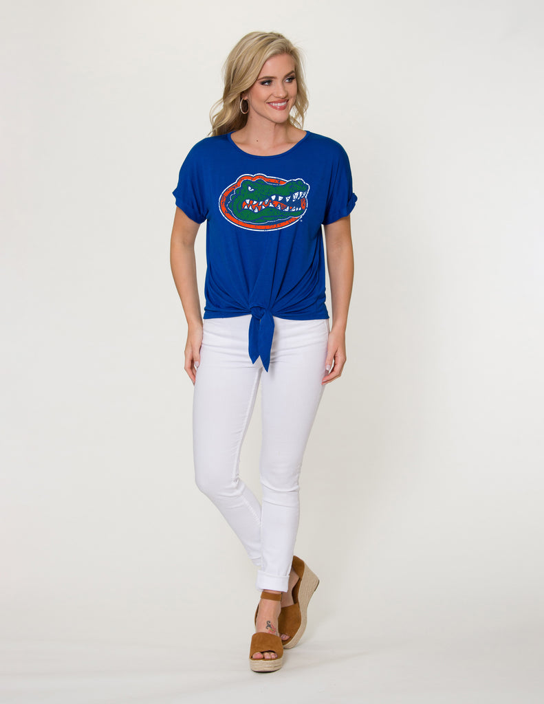 The Tia Gators Tie Front Tee