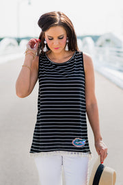 Florida Gators Soho Stripes Tassel Tank (536204443681)