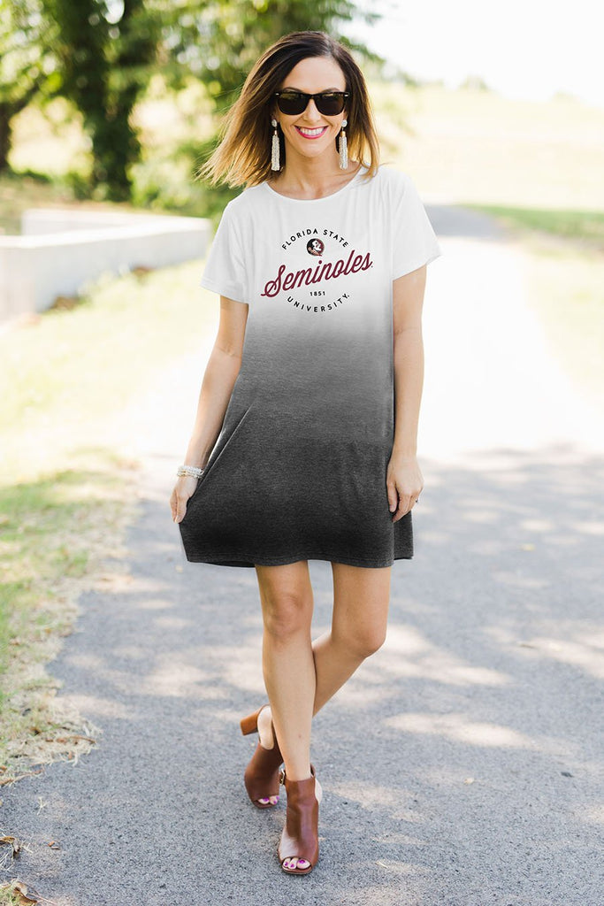 Florida State Seminoles Sunset Vibes Dip-Dye Dress