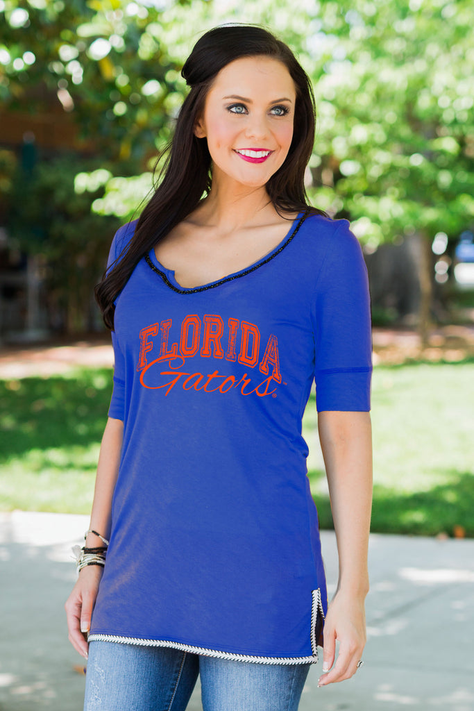 Florida Gators Beaded Trim Tee