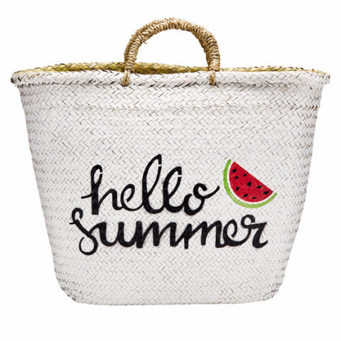 Hello Summer Seagrass Tote