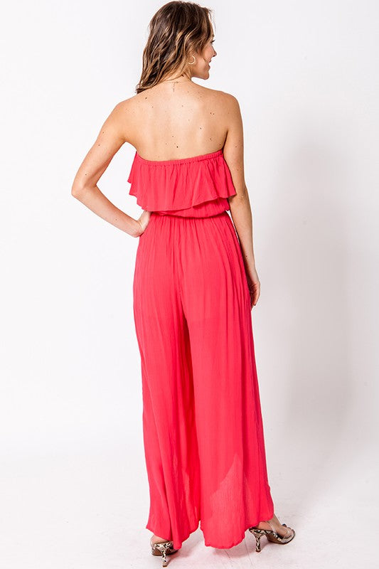 The Cadence Coral Jumpsuit