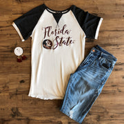Florida State Seminoles Believe it or Knot Raglan Waffle Tee (536191565857)
