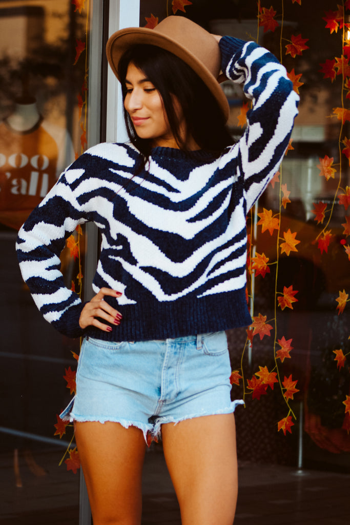 A Wild Winter Jumper - Navy
