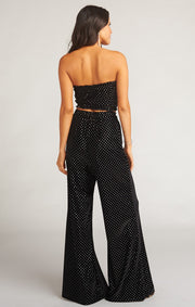 Iris Tube Top - Stud Velvet Black (2153762488368)