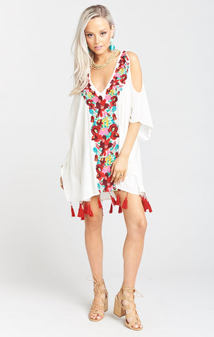 Billow Front L/S Playsuit - White