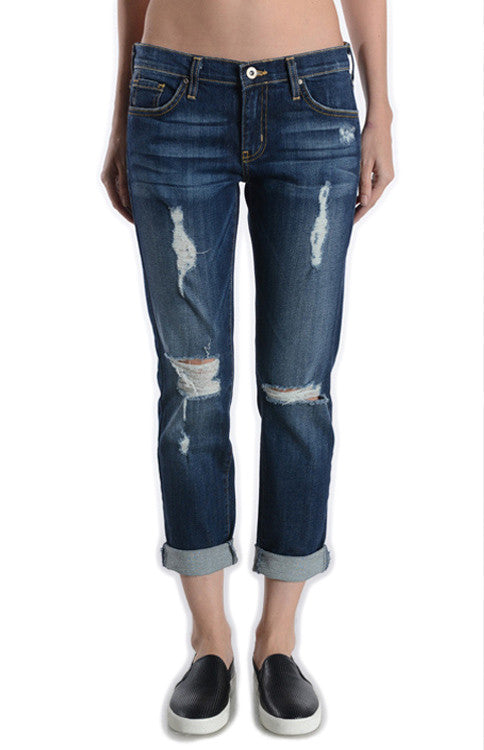 Just Black Denim Destroyed Boyfriend Denim